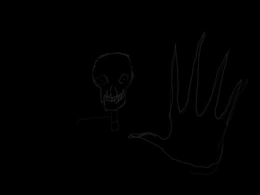 The drawing is a ghost, so now you believe in ghosts.