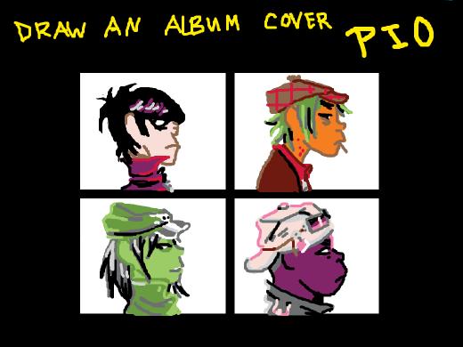 draw an album cover, pio