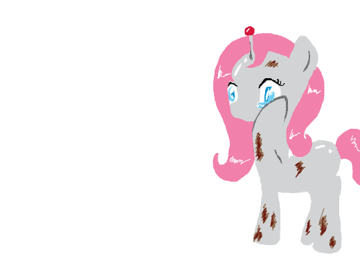 Robotic Fluttershy is sad because somepony has been calling her &quote;dirty.&quote;
