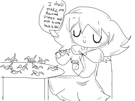 Chihiro's ghost has taken up origami