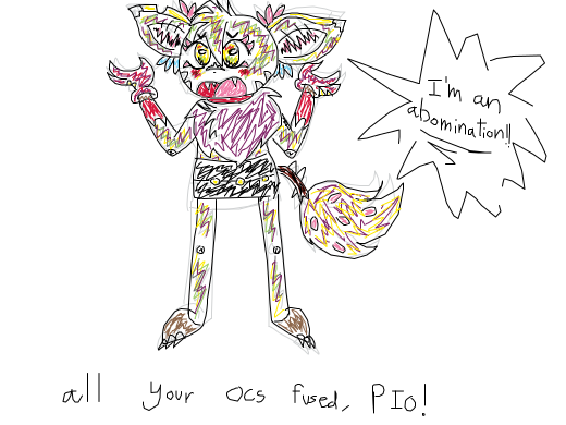 All of your ocs fused pio