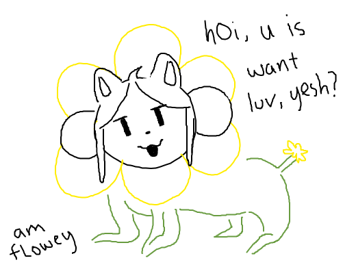 fusion between temmie and flowey goes horribly wrong