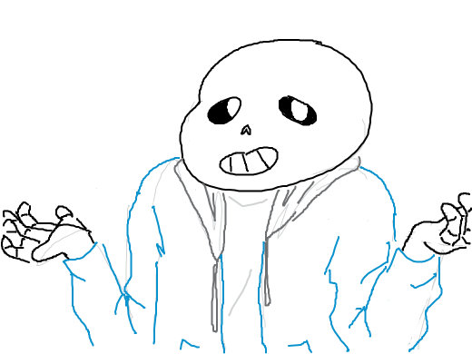 sans shruggin