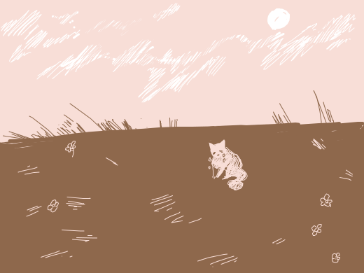 A little kitty abandoned at the loneliest field ever.