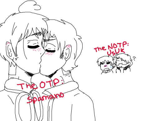 Draw Your Otp Kissing Whilst Your Notp Watches Sad That They Are