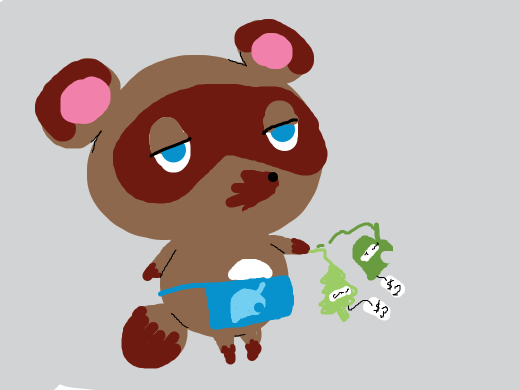Tom Nook buying a ton of air freshener for no reason in particular.