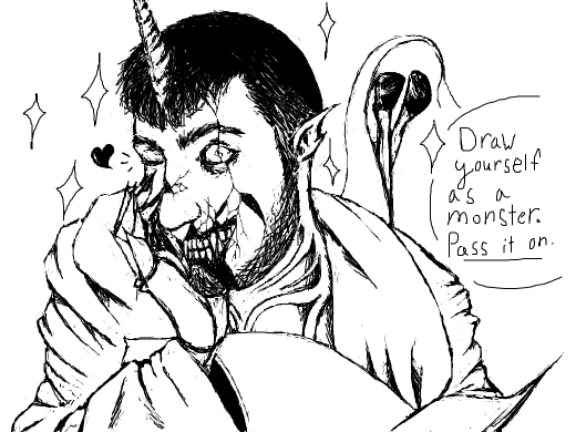Pass it on: Draw yourself as a monster