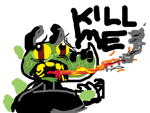 Kill me, says the human/dragon hybrid.