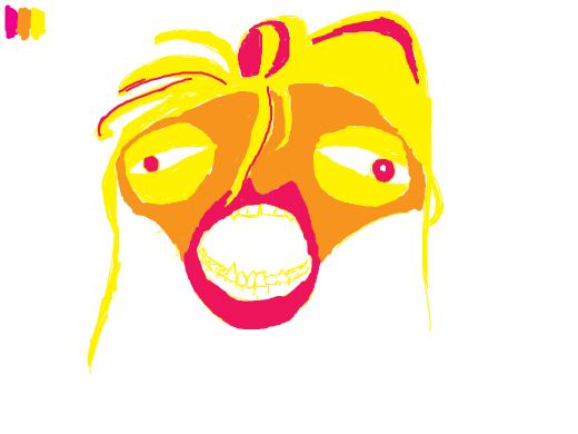 Yawn, but in 3 colors! Pink, yellow, and orange!