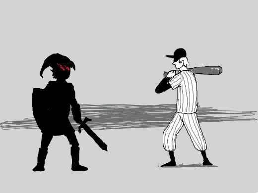shadow link versus the batter from off