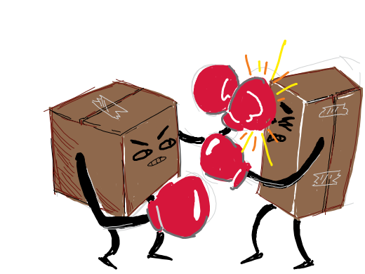 A boxing match.