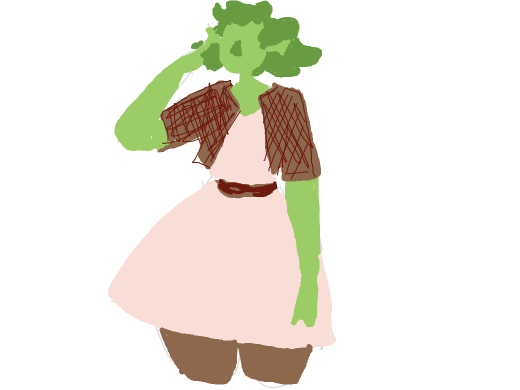 Female Shrek outfit