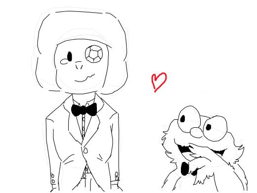 eyeball marries baby elmo
