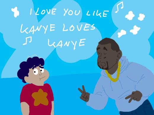 kanye west singing to steven