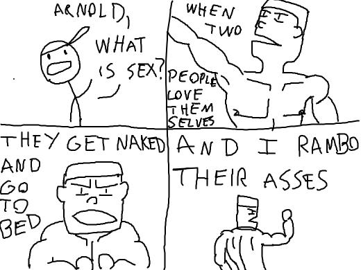 Arnold Schwartzenegger teaching sexual education