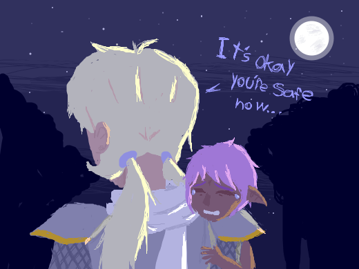 OC holding a sad little child