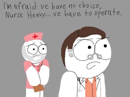 Medic is one of the doctors in one of those dramatic doctor shows.