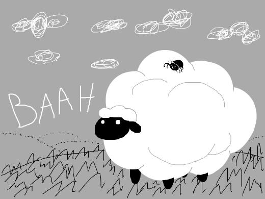 Either a sheep saying &quote;Baah&quote;, or a happy spider relaxing on a comfy king-size bed. You choose.