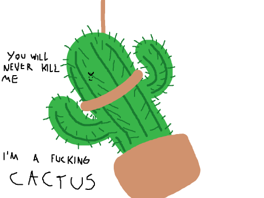 Cactus being hanged
