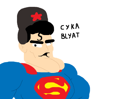 superman speaking russian and hes a communist