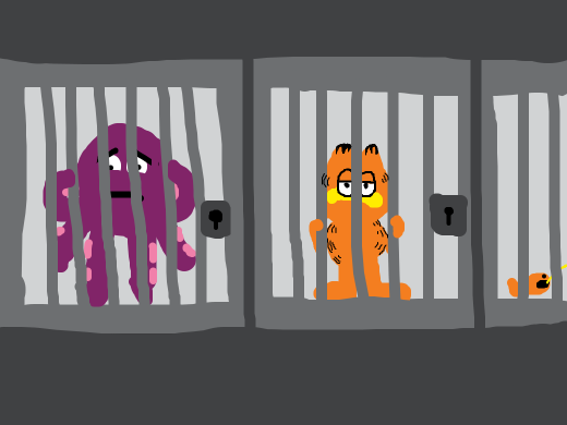 the doodler was in jail/prison