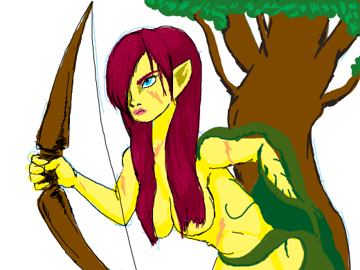 dryad with battle scars
