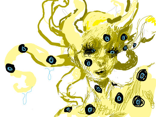What the F is this?! O__O Slime-octopus girl?