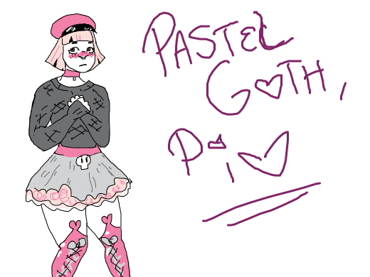 pastel goth (pass it on!)