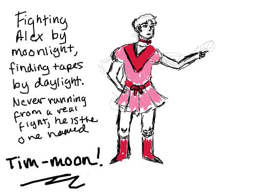 tim as a magical girl
