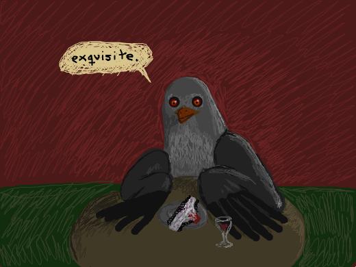 bird eats the period panties