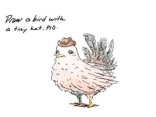 how to draw a tiny bird