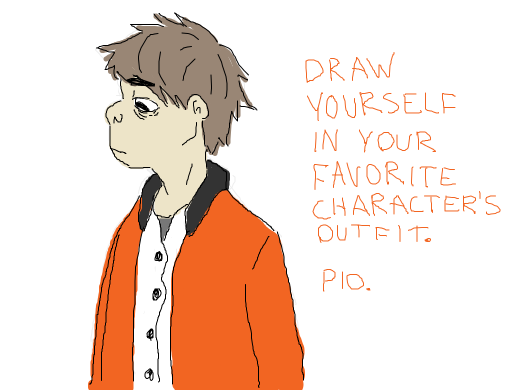 draw yourself in your favourite characters outfit pio