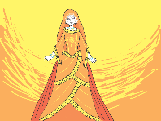 Rose in very fancy god tier clothes.