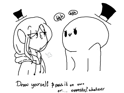 Draw someone else (don't pass it on)