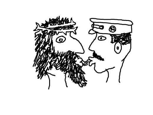 Jesus kissing Stalin