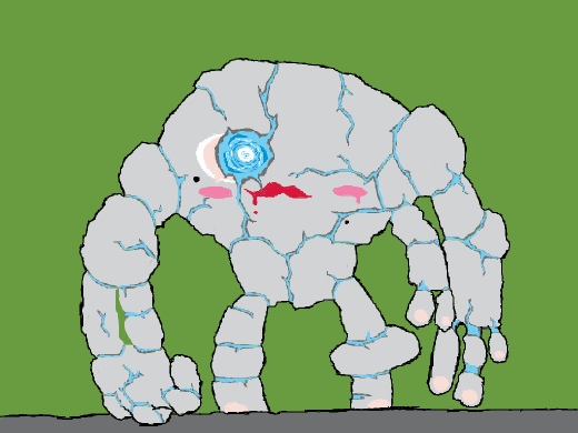 Some sort of stone golem with too much makeup