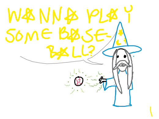 A very pleasing wizard baseball