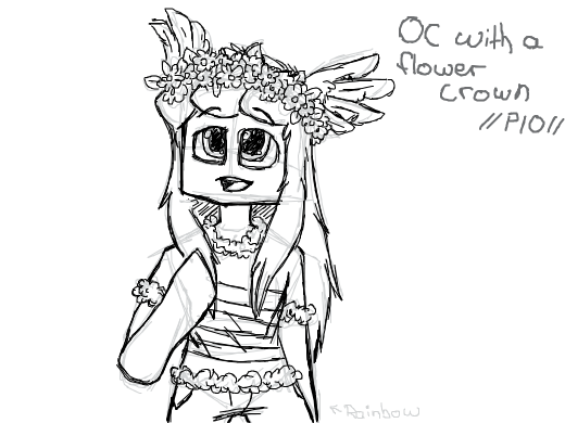 oc with a flower crown