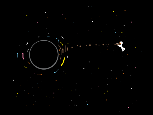 Snipering a black hole with brown bullets of various sizes