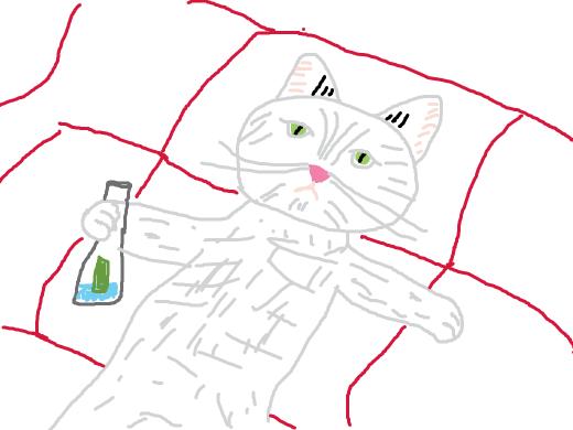 a cat drinking alcohol and getting wastedddddd!!