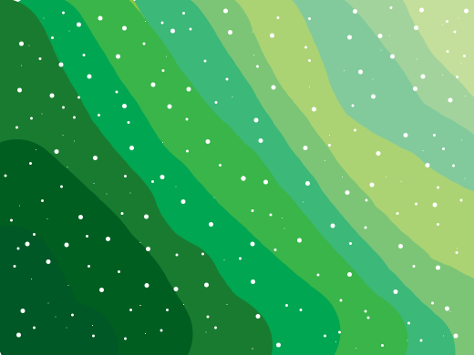 all green with small white dots