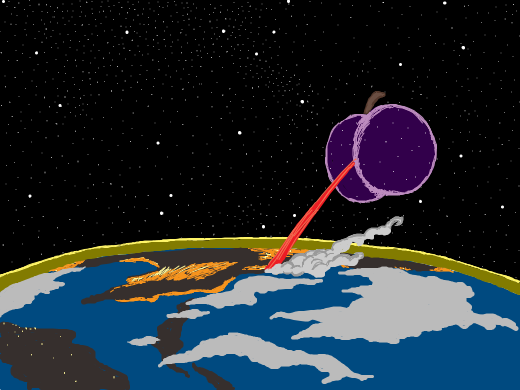plum invading earth by himself