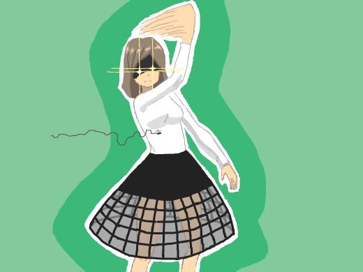Gijinka of a flyswatter by Dax