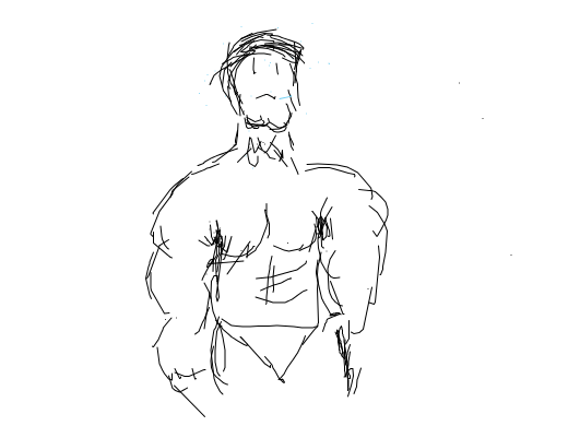Muscleman is afriad