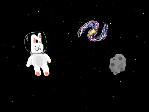 Space bunny from space.