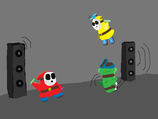 Shy Guy dance party.
