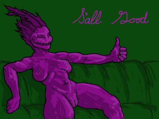 purple demon says SALL GOOD