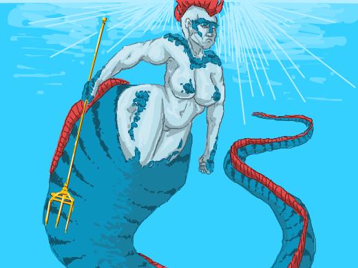 Curvy Oarfish mermaid