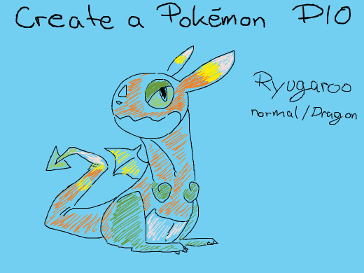 Create a pokemon and pass it on!