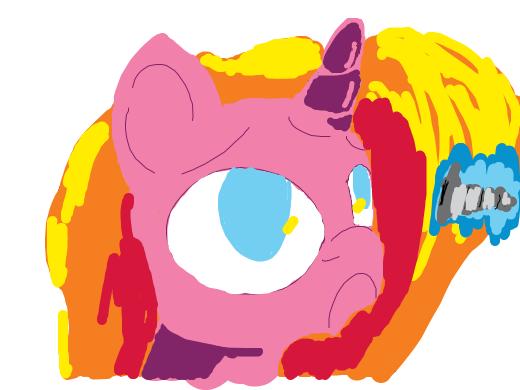 pink unicorn with screw